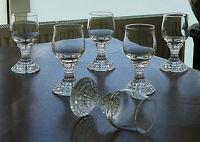 6 edle Kristall Sherry - Portweingläser aus den 60er / 70er Jahren !!!