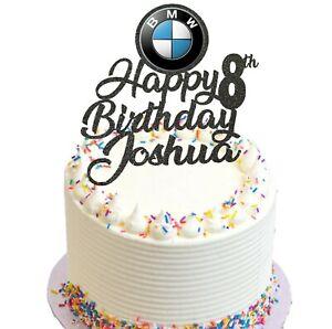 BMW Birthday Glitter Cake Topper
