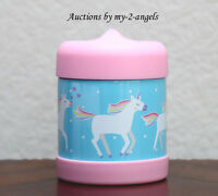 NEW Pottery Barn Kids AQUA UNICORN Hot & Cold Food Storage Container Thermos