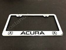 1x ACURA STAINLESS STEEL LICENSE PLATE FRAME + Screw Caps LL 2003-2018