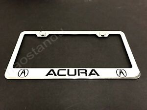 1xACURA STAINLESS STEEL LICENSE PLATE FRAME + Screw Caps LL 2003-2018