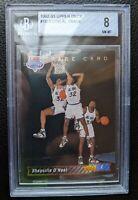 1992 93 UPPER DECK #1b SHAQUILLE O'NEAL ROOKIE CARD RC ORLANDO MAGIC HOF BGS 8