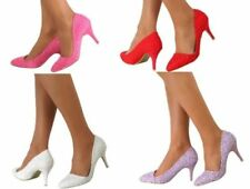 Satin Bridal or Wedding Floral Heels for Women
