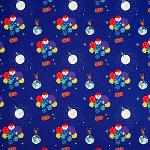 John Lewis Man on the Moon WIPE CLEAN PVC Table/Floor cloth Fabric - 1 Metre