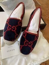 Gucci Logo Canvas Espadrilles Shoes Flats Size US 10 / 40