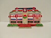 COCA COLA Town Square Collection Tick Tock Diner Lighted Ceramic Building
