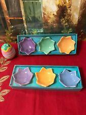 Decorative Pastel Egg Ceramic Base/Holders (6 Piece)
