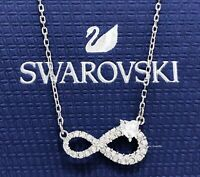New Authentic SWAROVSKI Rhodium Infinity Heart Crystal Pendant Necklace 5520576