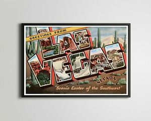 "LAS VEGAS Large Letter POSTER! (up to 24"" x 36"") - Postcard - Southwest - Nevada"