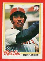 1978 Topps #720 Fergie Jenkins NEAR MINT+ Boston Red Sox HOF Cubs FREE SHIPPING
