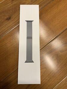 Genuine Original Apple Watch 44 MM Space Black Stainless Steel Milanese Loop Bnd