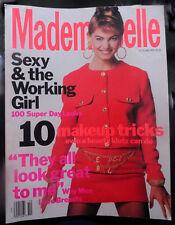 Vtg Mademoiselle 10/1990 Naomi Campbell Niki Taylor Gail O'Neill Greta Cavazzoni
