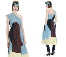 ACNE STUDIOS XS/36 Callas Blue Head One Shoulder Draped Dress $950