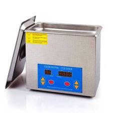 Stainless Steel Ultrasonic Cleaner w/Timer Heater Argo Auc4008-V 120 Watt 110V