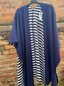 Tommy Hilfiger Cardigan Poncho One Size Striped Navy White Brand New with Lable