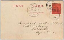 52023 - TRINIDAD & TOBAGO - POSTAL HISTORY -    POSTCARD to ARGENTINA 1903