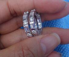 2ct Inside out Hoop baguette diamond earrings 14k WG