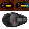12V Motorrad Digital Tachometer Kilometerzähler Drehzahlmesser Km/h Indikator 1x