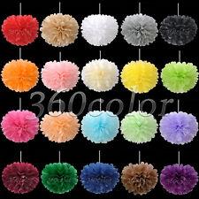 "6""/8""/10""/15"" Tissue Paper Pom Poms Flower Ball Wedding Party Xmas Decorations"