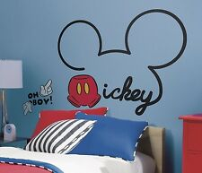 "DISNEY MICKEY MOUSE NAME LOGO 32"" Giant Wall Decal Room Decor Stickers NEW 560"