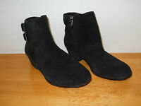Vince Camuto New Womens Madalline Black Glitter Suede Ankle Boots 6 M Shoes NWB