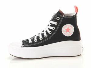 Scarpa donna Converse Chuck Taylor All Star Move Black Pink Salt White 271716C