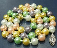 8mm Multicolor south sea AAA shell pearl necklace 18 inches