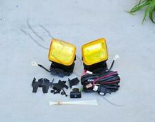 1 Pair Yellow Len Replacement Fog Lights Lamps For 1996-1998 Honda Civic 2&4DR