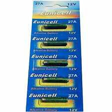Pack of 5 A27 Alkaline Batteries AKA MN27 27A V27GA L828 by PK Green
