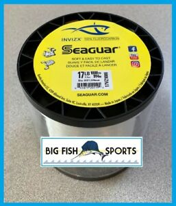 SEAGUAR INVIZX 100% Fluorocarbon Line 17lb/1000yd 17 VZ 1000 FREE USA SHIP!