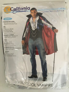 Very Cool Vampire Dracula Adult Men Halloween Costume - Brand New