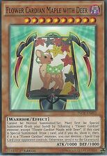YU-GI-OH CARD: FLOWER CARDIAN MAPLE WITH DEER - INOV-EN013 1ST EDITION