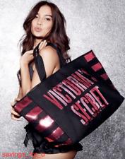 $58.00 Victoria's Secret Large Sequin Black Pink Tote Bag Handbag Purse Bookbag