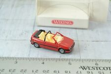 Wiking 0530222 Volkswagen Golf Convertible Red 1:87 Scale HO