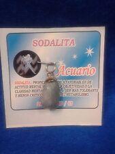 Zodiac Gemstone ACUARIO , Pendant Sign. Piedra del Signo Zodiacal .Religion