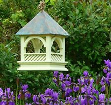 Bempton Bird Table Garden Hanging Wooden Copper Roof Wildlife World New
