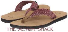E1321 Sanuk Fraid Webbing Sandals / Flip-Flops • New Mens 11 Multi Red • #27391