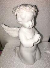 "Nib Roman, Inc Angel Kneeling Praying Figure 6"", White with Glitter 29363"