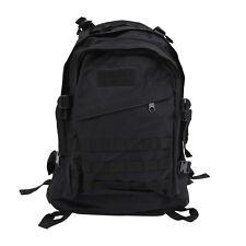 40L 600D tela de Oxford impermeable Mochila bolso tactico de viaje - negro CU