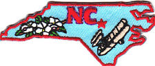 """NC"" - NORTH CAROLINA STATE SHAPE PATCH - Iron On Patch/South, State Shape"