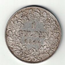 GERMANY GERMAN STATES BAVARIA 1844 GULDEN LUDWIG I .900 SILVER COIN