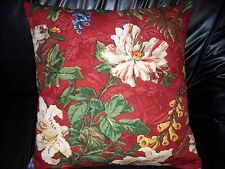 BRUNSCHWIG & FILS LIANE FLORAL100%cotton Pillow Cushion Cover 20''x 20''