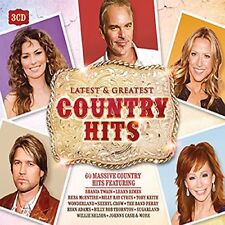 COUNTRY HITS - LATEST & GREATEST 3 CD NEUF JOHNNY CASH/CLAY WALKER/WONDERLAND/+