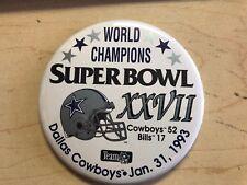 Dallas Cowboys Super Bowl XXVII Champions Button 1993