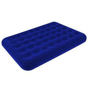 Inflatable Double Flocked Air Bed Airbed Blow Up Mattress Camping Indoor Outdoor