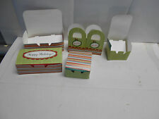 4 packs of Holiday Treat Boxes. 6 decorative boxes p/pack. 24 total 3 sizes N334