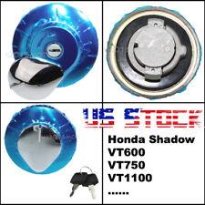 US Stock Fuel Gas Cap Cover Lock Key For Honda Shadow 1100 VT1100C 1985-1998