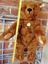Vintage 1997 Limited Edition 1905 Steiff Teddy Bear - Large Golden Brown Mohair!