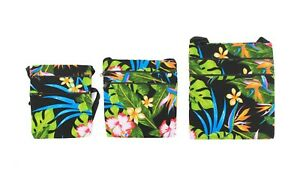 Hawaii Hangover Hawaiian Floral 100% Cotton Crossbody Bag in Assorted Color/Size