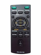 New RM-ANU192 REMOTE f SONY Sound Bar SS-WCT60 SS-WCT60 HT-CT60 SACT60 W batte